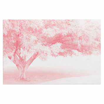 "Sylvia Coomes ""Pink Frost "" White Photography Decorative Door Mat"