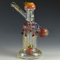 Silika Glass Honey Bee Mini Sidecar #1 14 MM by Silika Glass | TheDabstore