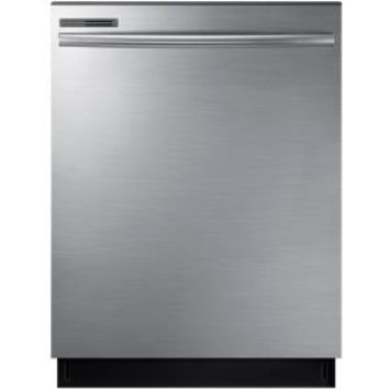 Samsung 24 in. Top Control Dishwasher with Stainless Steel Interior Door and Plastic Tall Tub in Stainless Steel DW80M2020US at The Home Depot - Mobile