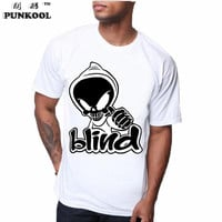 2017 Men Summer O-neck Skull Printed T shirt Hip Hop Tshirts