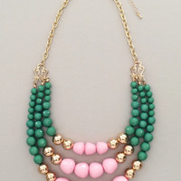 Mint Kylie Beaded Necklace