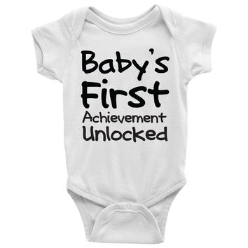 Baby's First Achievement Unlocked Baby Onesuit