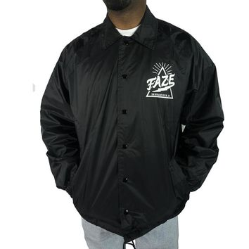 There Goes the Hood Coach Jacket in black