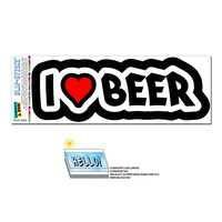 I Love Heart Beer SLAP-STICKZ TM Premium Sticker
