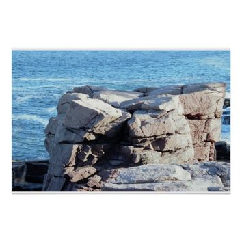 Thunder Hole Acadia National Park Poster