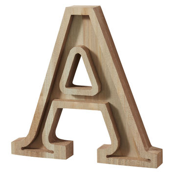 Make Market™ Carved Wood Letter, 8""