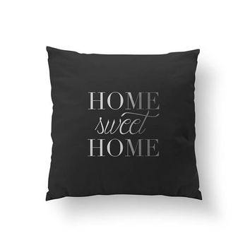 Home Sweet Home Pillow, Typography Pillow, Gold Pillow, Home Decor, Cushion Cover,Throw Pillow, Bedroom Decor, Bed Pillow,Decorative Pillow