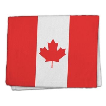 "Canadian Flag All Over 11""x18"" Dish Fingertip Towel All Over Print by TooLoud"