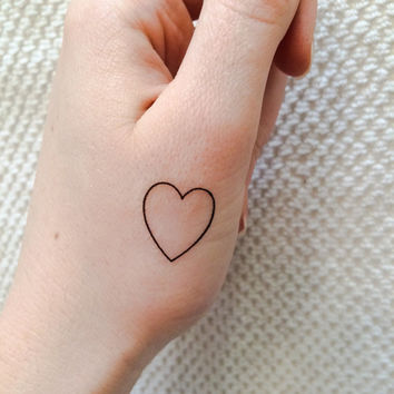 5 Heart Temporary Tattoos- SmashTat