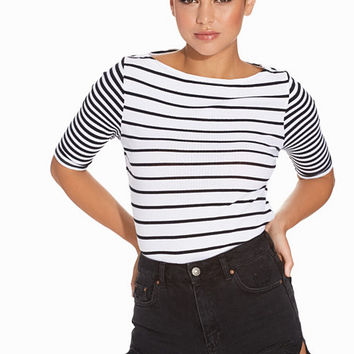 LS Stripe Slash Neck, River Island