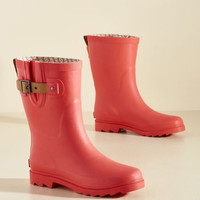 Puddle It Be? Rain Boot in Watermelon | Mod Retro Vintage Boots | ModCloth.com