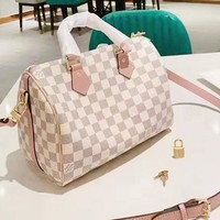 LV Louis Vuitton Women's new round handle pillow bag handbag shoulder bag