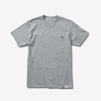 Diamond Patch Tee in Heather Grey