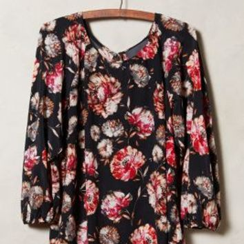 Night Blooms Silk Blouse by Maeve Black Motif