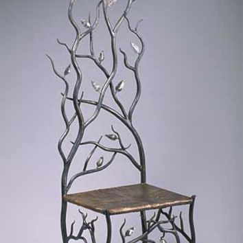 Springs Throne by Rachel Miller: Steel Copper Chair | Artful Home