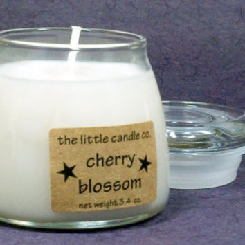 Cherry Blossom Soy Candle Jar - Hand Poured and Highly Scented Container Candles