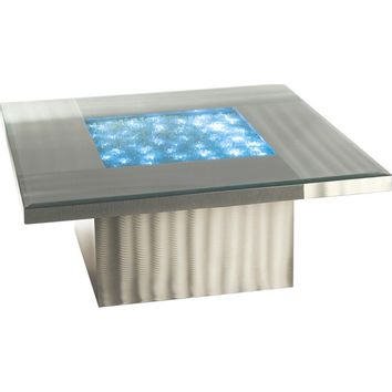 Shattered Coffee Table Brushed Aluminum
