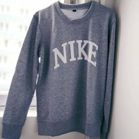 NIKE fashion trendy letter printing sweater pullover F