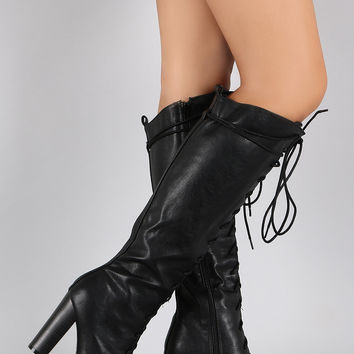 Shop High Heel Combat Boots on Wanelo