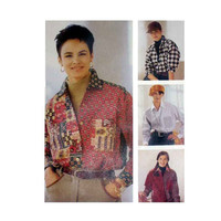 """Women's Shirts, Loose-Fitting, Misses' Size Xsm, Small, Medium Bust 29.5, 30.5, 31.5, 32.5, 34, 36"""" McCall's 6667 Sewing Pattern Uncut"""