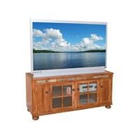 Sunny Designs 2754RO Sedona TV Console In Rustic Oak