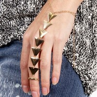 Gold Triangle Hand Bracelet