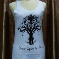 Tank Tops Tree once upon a time message ART TANK top size S/M sleeveless singlet top shirt for women