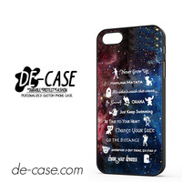 Disney 11 Best Lesson Quotes Galaxy DEAL-3281 Apple Phonecase Cover For Iphone 5 / Iphone 5S