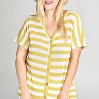 Sunshine Striped Knot Top  | Plus