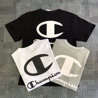 CHAMPION Embroidered Cotton T Shirt 621