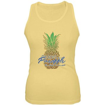 Always Be Yourself Pineapple Juniors Soft Tank Top