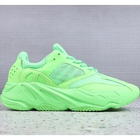 Adidas Yeezy 700 Fluorescent green retro coconut sneakers