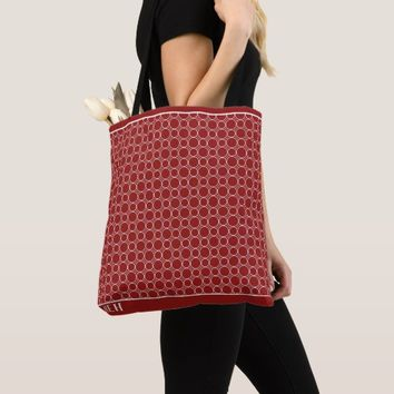 Red Bubbles Minor Monogram Tote Bag