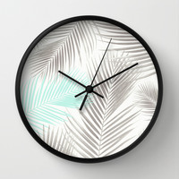 Tropical Palms  Wall Clock by Sunkissed Laughter