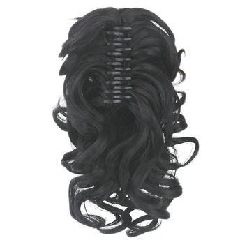 Soowee Curly Synthetic Hair Clip In Hair Extension Black My Little Pony Tail Claw Ponytail False Hair Horse Fairy Tail