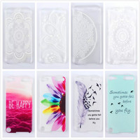 Mobile Phone Case For Apple iPod Touch 5 case Fashion 10 Style Cute Eiffel Tower Elephant Painted phone case cover,PT200