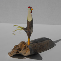 Hand Whittled Rooster