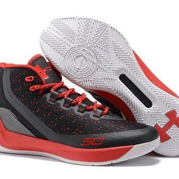 DCCKIJ2 Men's Air Max Under Armor Curry 3 Basketball Shoes Black Red