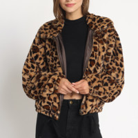 Lover's Leopard Bomber Jacket in Leopard