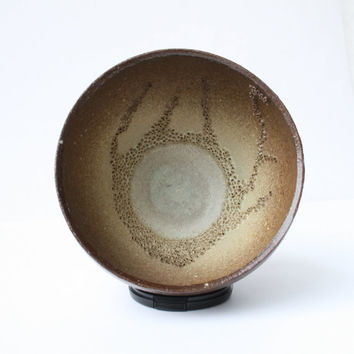 Cellular Series - Brown Pottery Decor - Pierced Clay Vessel with Nature Inspired Pattern - Cream to Chocolate Gradient