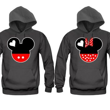 Cartoon Faces Very Cute Unisex Couple Matching Hoodies