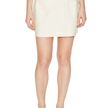 Carven Women's Patent Mini Skirt - Cream/Tan -