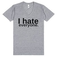 Hate-Unisex Athletic Grey T-Shirt