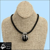 Huge Clawed Paw Inspired By Norse Mythology Giant Fenrir Wolf on Braided Leather Cord Necklace