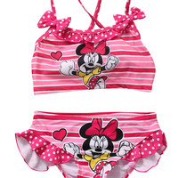 2pcs Set Toddler Kids Baby Girls Tankini Bikini Swimwear Swimsuit Bathing Suit Beachwear Swiming Clothes