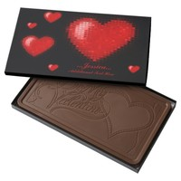 Tiled Mosaic Heart (Bright Red) Milk Chocolate Bar