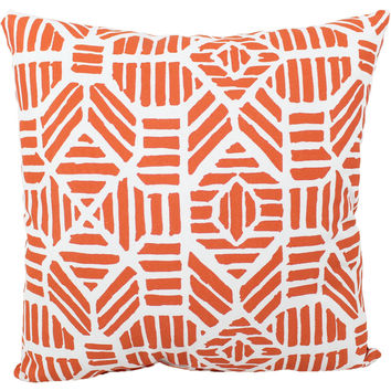 "Orange Pineapple Indoor/Outdoor Pillow, 18"" x 18"""