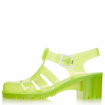 NINA Fluro Jelly Sandals - Yellow