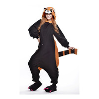 Unisex Adult Pajamas  Cosplay Costume Animal Onesuit Sleepwear Suit Raccoon