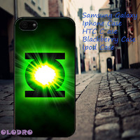 Green Lantern Superhero Logo iPhone 5/5S/5C/4/4S, Samsung Galaxy S3/S4, iPod Touch 4/5, htc One X/x+/S